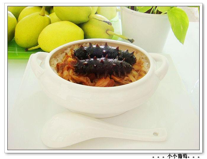 > (详细图解)上等海参的泡发过程和葱烧海参捞饭的做法
