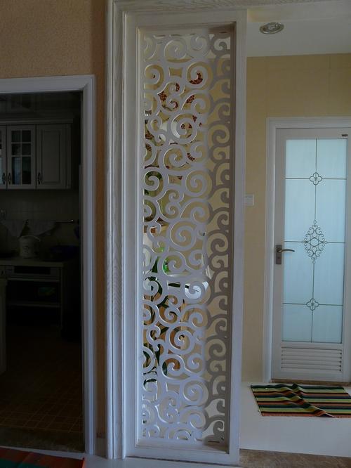 吊顶/密度板镂空雕花;  中式 欧式装修/背景墙/玄关/隔断/屏风/花格