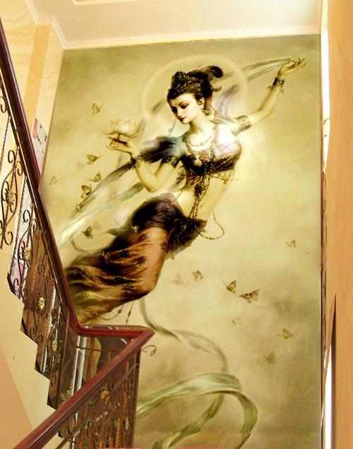 手绘墙画 营造自己的私家风景.. . 家在深圳 房网论坛