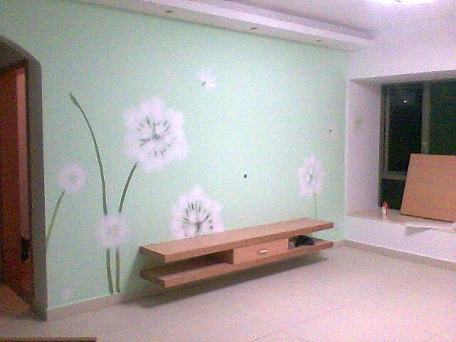 墙体手绘画——电视背景墙