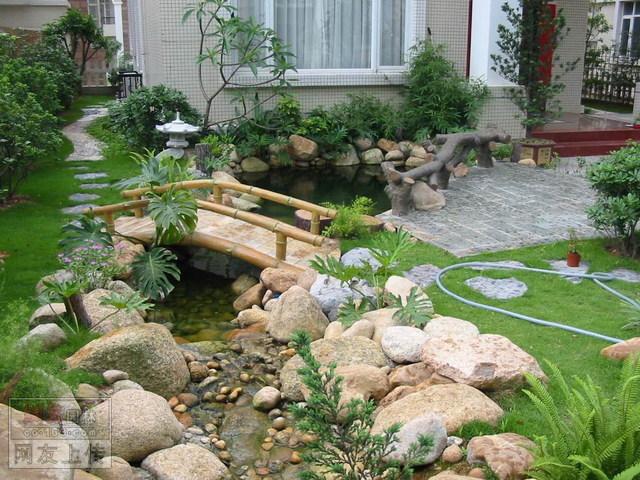 别墅小庭院景观设计图免费下载 - 园林绿化及施
