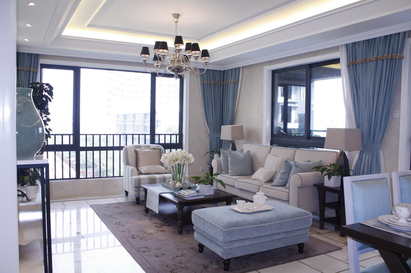 【领峰】样板房的现代欧式精装修——客厅级别: 粉丝