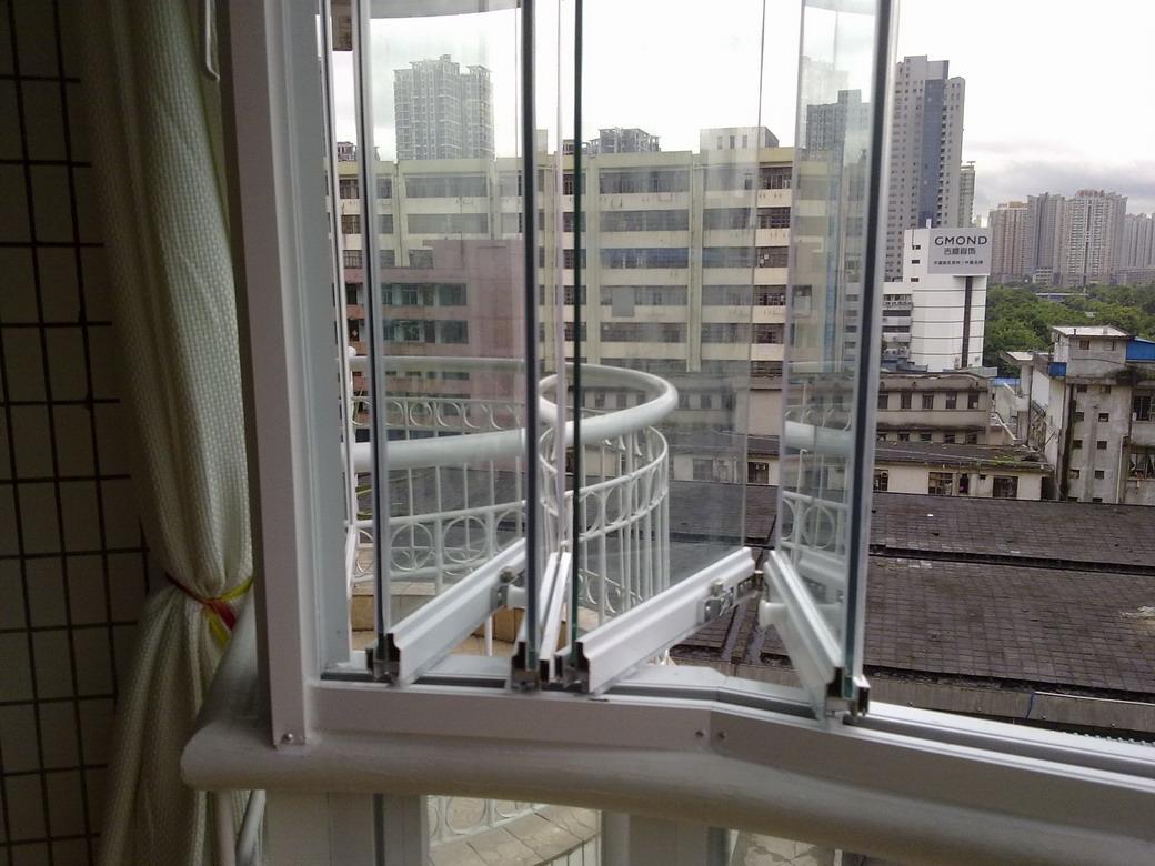 [图]专业制作 无框玻璃 防蚊纱窗/铝合金门窗/阳光雨棚/安全防护网