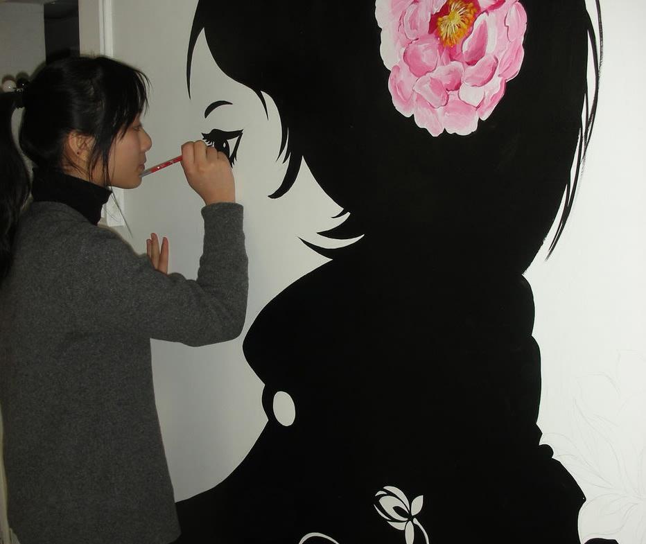 > 我爱手绘墙
